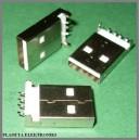 Wtyk USB typ A do montażu SMD z kołkami