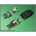 Wtyk USB typ A mini montowany na kabel