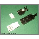 Wtyk USB typ A montowany na kabel
