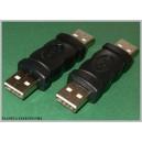Złącze łącznik wtyk męski podwójny USB