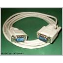 Kabel wtyk RS232 - wtyk RS 232 9pin DSUB 3m