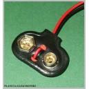 Zatrzask klips baterii 9V ( 6F22 ) kpl 10szt