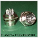 Gniazdo mikrofonowe CB 9 pin 9p montaż