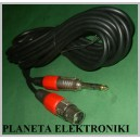 Kabel mikrofonowy JACK 6,3 / XLR canon 10m