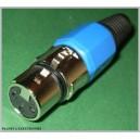 Niebie gniazdo mikrofonowe XLR 3pin na kabel
