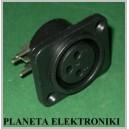 Gniazdo mikrofonowe XLR canon 3p montaż