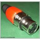 Gniazdo canon XLR 3pin CZERWONE na kabel