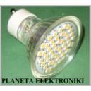 ŻARÓWKA 48 LED SMD GU10 230V Białe Ciepłe