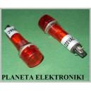 KONTROLKA dioda żarówka Czerwona 220V 9mm