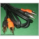 Kabel 2x RCA ( cinch ) - 2xRCA 1,8m