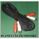 Kabel 2x RCA ( cinch ) - 2xRCA 5m