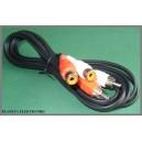 Przedłużacz 2xwt RCA(cinch) - 2xgn RCA 2,5m