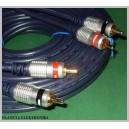 Kabel 2x RCA ( cinch ) - 2xRCA 0,5m VITALCO