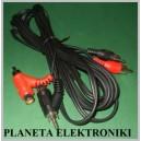 Kabel 2 wtyk RCA / 2 wt RCA + 2 gn RCA 2,5m