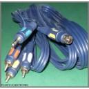 Kabel PC - TV SVHS + jack 3,5 / 3x RCA 5m
