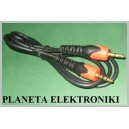 Kabel 2x wtyk Jack 3,5 stereo 0,5m Campari