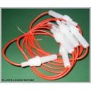Gniazdo bezpiecznika 30mm na kablu 10szt