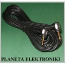 Kabel 2x wtyk mały jack 3,5 stereo kąt 0,5m