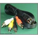 Kabel wtyk DIN - 4x wtyk RCA cinch 1,5m