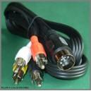 Kabel wtyk DIN 5p - 4x wtyk RCA cinch 1,5m