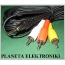 Kabel jack 4polowy - 3x RCA (cinch) 3m
