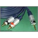 Kabel mały jack 3,5 - 2x RCA 1,5m VITALCO