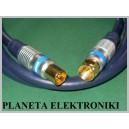 Kabel antenowy wtyk TV - wtyk F DIGITAL 1m