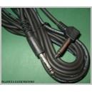Kabel wt jack 6,3 - wtyk 6,3 MONO kątowy 3m