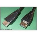Kabel HDMI - HDMI 1.4  5m FULLHD Gold