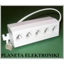 Rozgałęziacz telefoniczny wtyk -  5x gniazdo RJ11 6p4c (1368)